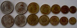 PERU' SERIE 7 MONETE 5-1 INTIS 50-20-10-5-1 CENTIMES FDC - Perú