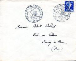 FRANCE. Enveloppe Ayant Circulé En 1957 Avec Flamme. Tour De France 1957 à Paris. - Ciclismo