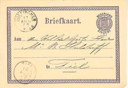 1873 Bk Met Tweeletter DOETINCHEM Naar Tiel 17 AUG 73 - Periode 1852-1890 (Willem III)