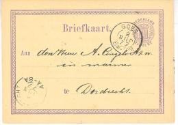 1877 Bk Met Tweeletter GOES Naar Dordrecht Van 2 JUN 77  Maand Verkeerd Ingezet - Covers & Documents
