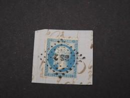 FRANCE-  N° YVERT N°14B PERCE EN LIGNE SUR FRAGMENT  OBL AMBULANTE   A VOIR TB     LOT P2542 - 1853-1860 Napoleon III