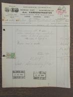 Factuur Gent Gand Meubles Vanderstraeten Ledeberg Stempel Cachet Beroepshof 1935 - Belgique