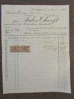 Factuur Invoice Jules Thooft Horticulteur Landegem 1927 Taxes Fiscales - Belgique