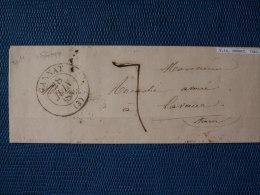 """""  ENVELOPPE  28 / 06/ 1846  GANNAT - CACHET  A  DATE  TYPE  13 - TAXE  7  """" - 1801-1848: Precursors XIX"