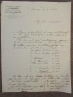 Brief Bestelling Burger Hotel Restaurant Rondeel Nijmegen Van Kampen 1901 - Netherlands