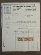 Facture Invoice Ascenseurs Strobbe Gent Gand Liften Factuur 1951 - Belgique