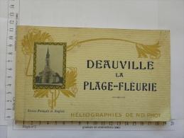 Carnet Carte Ou Photo - (14) Calvados - Héliographies - Deauville La Plage-Fleurie - 18 Vues - Normandie