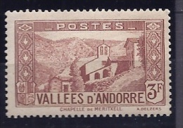 FrenchAndorra1932-43: Scott60(Yvert42)mlh* Cat.Value 16Euros - Andorre Français