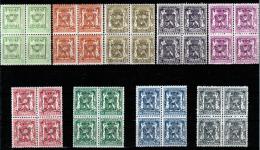 Belgique - Belgie - PRE484/492 - En Bloc De 4 - Préoblitérés - 1942/43 - MNH - Unclassified