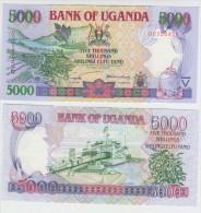 Uganda 5000 Shillngs 2002 Pick 40 UNC - Uganda