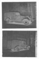 LIEGE VENNES   Plaque De Verre  Camionnette Oldsmobile Des Pneus ENGLEBERT 1938  2 Objets - Plaques De Verre