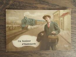 Cpa/pk Un Bonjour D'Audenarde Oudenaarde REX 4454 RARE 1913 - Oudenaarde