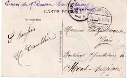 """FRANCE : GUERRE . OCCUPATION DU NORD . CPA DE """" MAUBEUGE """" . CENSURÉE POUR """" MONS """" . TB  . 1916 . - Postmark Collection (Covers)"""