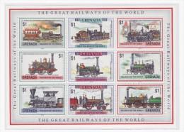 Grenada Treni Stamps - Treni