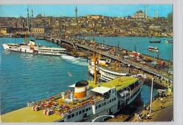 Turquie-TURKIYE-Turkey -  ISTANBUL Le Pont De Galata    (timbre Stamp TURKIYE Auto Voiture ) - Turquie