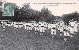 (33) Langon - Journée Du Patronages Catholiques De La Gironde - Ensembles Généraux - 1906 - 2 SCANS - France