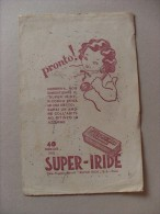 BUVARD: SUPER-IRIDE Tinte Tessili. Ditta Ruggero Benelli - PRATO - Vestiario & Tessile