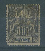"""VEND TIMBRE DE GUYANE FRANCAISE N° 34 + CACHET """"SAINT-LAURENT DU MARONI"""" !!!! - Französisch-Guayana (1886-1949)"""