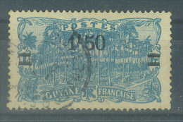 """VEND TIMBRE DE GUYANE FRANCAISE N° 104 + CACHET """"SAINT-LAURENT DU MARONI"""" !!!! - Französisch-Guayana (1886-1949)"""