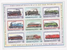 Grenada Grenadines Treni Stamps - Treni