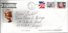 Etats-Unis. Santa Claus Stamp, Sur Lettre Adressée En Andorre, Avec Timbre à Date Arrivée Andorre Au Recto Enveloppe - Christmas