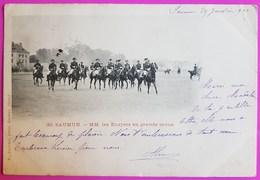 Cpa Militaria Saumur MM. Les Ecuyers En Grande Tenue 1901 Carte Postale Ecole Militaire Cavalerie Equitation - Regimente