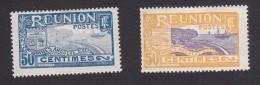 Reunion, Scott #84-85, Mint Hinged, Scenes Of Reunion, Issued 1922-1926 - Reunion Island (1852-1975)