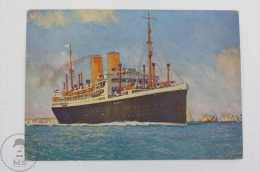 Old Illustrated Boat Postcard - Norddeutscher Lloyd Bremen Germany Shipping Company - Dresden - Bateaux