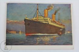 Old Illustrated Boat Postcard - Norddeutscher Lloyd Bremen Germany Shipping Company - Steamer Ship Columbus - Bateaux