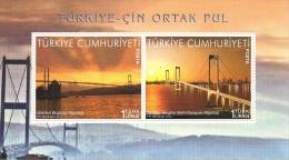 Turkey (2013) - Block -  /  Bridge - Joint Issue With China - Gezamelijke Uitgaven