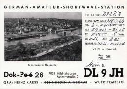 FUNK - QSL, German Amateur Shortwave Station, Benningen Im Neckartal - Hildritzhausen - Radio