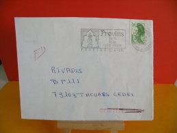 Flamme - 77 Seine Et Marne, Provins, Juin Fête Médiévale - 30.4.1985 - Marcophilie (Lettres)