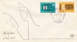 TÜRKEI 1959, Brief Mit Schöner 3 Fach Sondermarken-Frankierung - 1921-... Republik