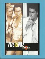 MARTINI - 07/2002 - Viva La Vita - ADVERTISING - Postcard From PORTUGAL- 2 Scans - Alcools