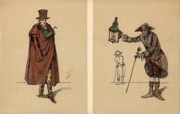 RUSSIE - ART RUSSE : ILLUSTRATION SIGNÉE: ALXANDRE BENOIS : CROIX-ROUGE - STE. EUGÉNIE ~ 1905 - 1910 (r-861) - Rusia