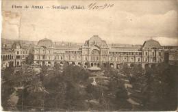 POSTAL DE SANTIAGO DE LA PLAZA DE ARMASDEL AÑO 1910  (CHILE) (HUME Y Ca AHUMADA) - Chile