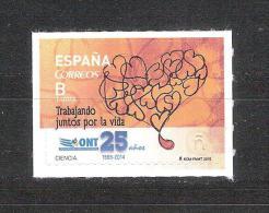 España 2015-1 Sello Nuevo ** Organizacion Nacional De Trasplantes 25 Años-Espagne Spain Spanien Spagna - 2011-... Unused Stamps