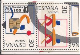 TARJETA SELLOS OLIMPIADA TIRADA 6100 - Sellos & Monedas