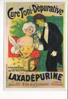 """PUBLICITE - Reproduction Affiche Ancienne  - """" Laxadépurine  """" Cure Toni Dépurative - Advertising"""