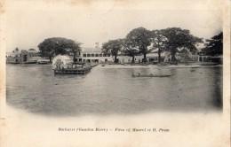 GAMBIE BATHURST (GAMBIA RIVER) FIRM OF MAUREL ET H PROM CARTE PRECURSEUR - Gambie