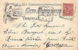 [DC5441] CARTOLINA - VERCELLI - PUBBLICITARIA - CONSORZIO D'IRRIGAZIONE CAVO MONTEBELLO - Viaggiata - Old Postcard - Vercelli