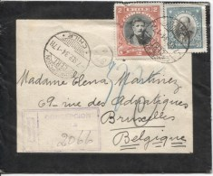 Chile/Chili Registered Mourning Cover C.Concepcion 7/9/1934 To Brussels Belgium PR1909 - Chili