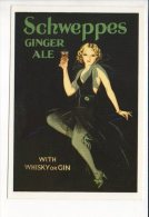 """PUBLICITE - Reproduction Affiche Ancienne  - """"Schweppes """" Ginger Ale - Advertising"""