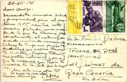 Equatorial Guinea - Used Stamp Timbre Fernando Poo Ara�a Spider 1954 ( 2 scans )