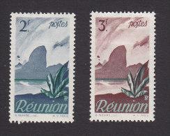 Reunion, Scott #258-259, Mint Hinged, Scenes Of Reunion, Issued 1947 - Reunion Island (1852-1975)