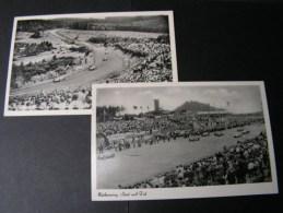 == Adenau Eifel Nürnburgring Start Und Ziel  * 2 Alte Karten  Motosport Ca. 1950 - Motorradsport