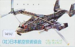 Télécarte Japon *    (2021) Japan Phonecard Airplane * Flugzeug Avion * AVION * AIRLINES * - Flugzeuge