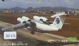 Télécarte Japon *    (2022) Japan Phonecard Airplane * Flugzeug Avion * AVION * AIRLINES * - Flugzeuge