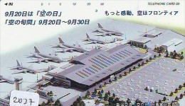 Télécarte Japon * AIRPORT  (2027) Japan Phonecard Airplane * Flugzeug Avion * AVION * AIRLINES * - Flugzeuge