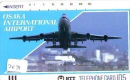 Télécarte Japon * FRONTBAR  330-049 (2031) Japan Phonecard Airplane * Flugzeug Avion * AVION * AIRLINES * - Flugzeuge